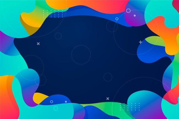 Fondo abstracto colorido vector gratuito
