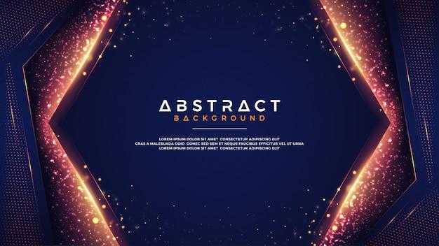 Fondo abstracto con la combinación de efectos del bokeh de la falta de definición. Vector Premium