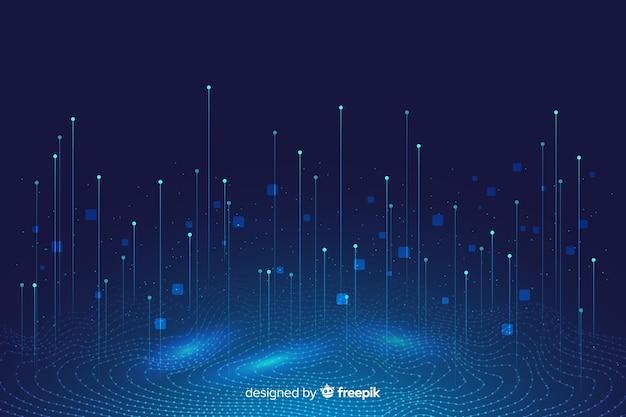 Fondo abstracto del concepto de datos grandes vector gratuito