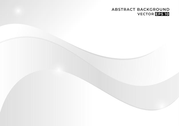 Fondo abstracto concepto minimalista blanco y gris. Vector Premium