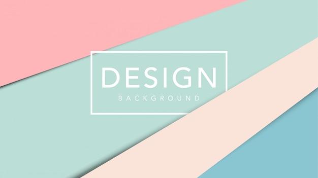 Fondo abstracto de corte de papel con plantilla de color pastel Vector Premium