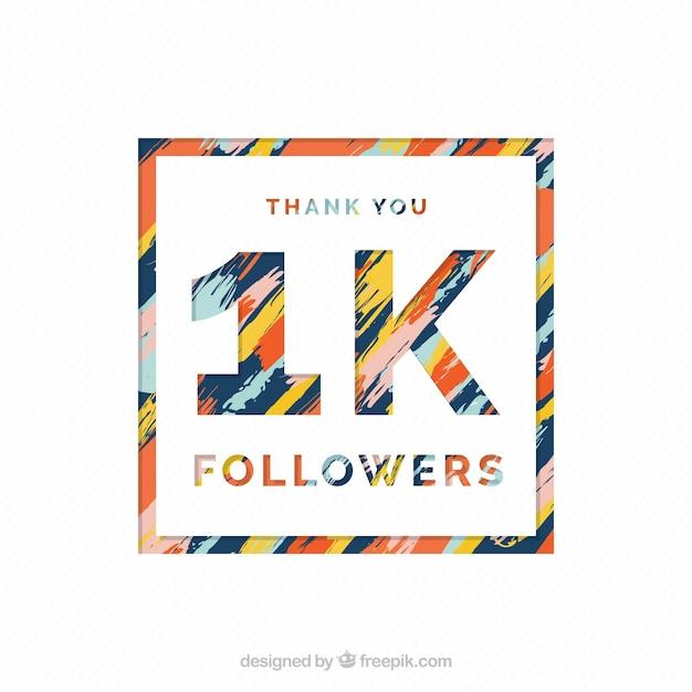 Fondo abstracto de 1k de seguidores  Vector Gratis