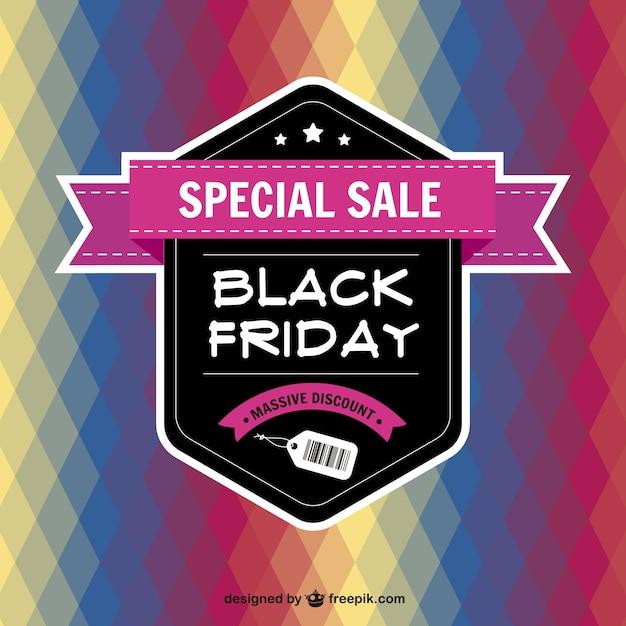 Fondo abstracto de Black Friday Vector Gratis