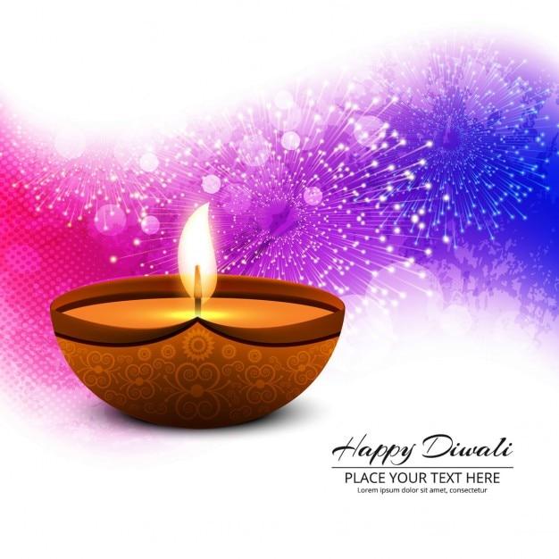 Fondo abstracto de diwali de fuegos artificales Vector Gratis