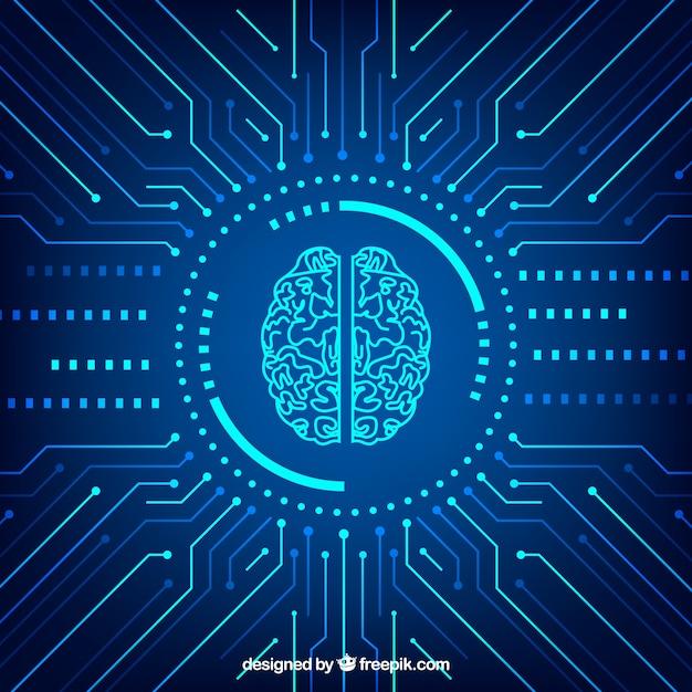 Fondo abstracto de inteligencia artificial Vector Gratis