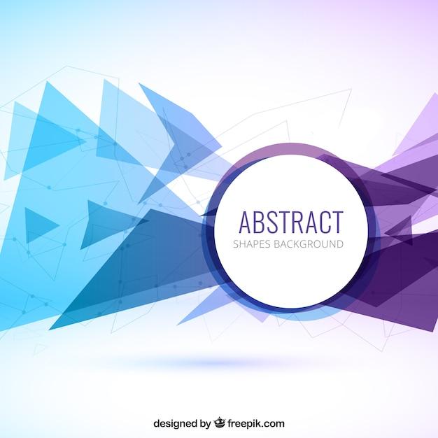 Fondo abstracto de los triángulos de color azul y morado | Descargar ...