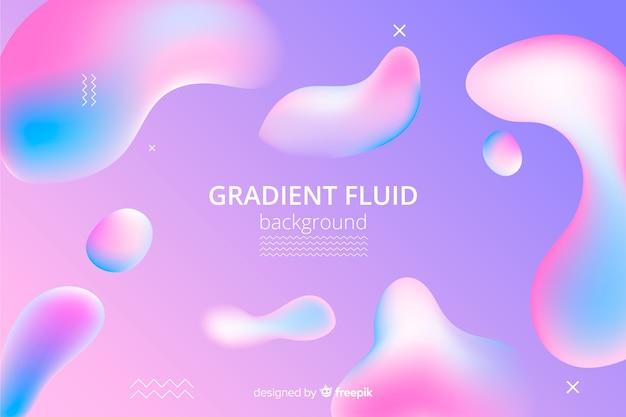 Fondo abstracto degradado con formas fluidas vector gratuito
