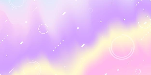Fondo abstracto degradado púrpura pastel concepto de ecología para su gráfico, Vector Premium
