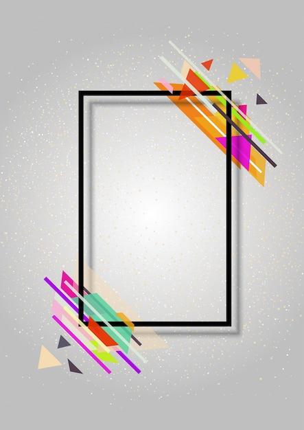 Fondo abstracto del marco con un diseño moderno | Descargar Vectores ...