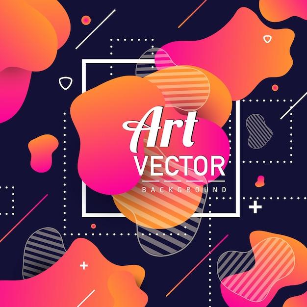 Fondo abstracto con detalles geométricos. vector gratuito