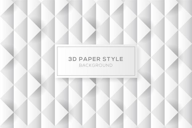 Fondo abstracto de diamantes en estilo de papel 3d vector gratuito