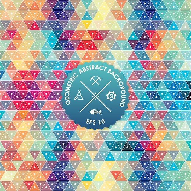 Fondo abstracto, diseño geométrico, ilustración del vector. tesselation geométrico de la superficie coloreada. estilo de la ventana de cristal de colores. resumen de color borroso. vector gratuito