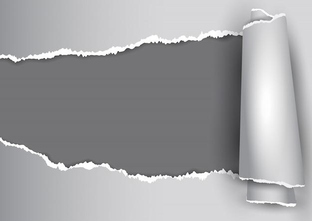 Fondo abstracto con diseño de papel rasgado vector gratuito