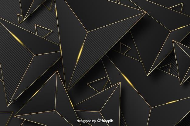 Fondo abstracto dorado vector gratuito
