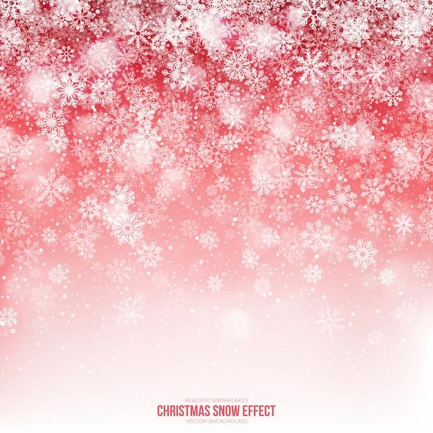 Fondo abstracto de efecto de nieve de navidad Vector Premium