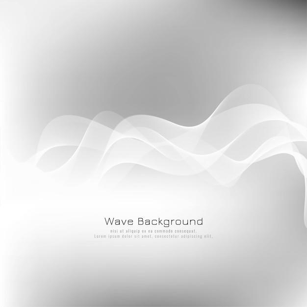 Fondo abstracto elegante onda gris vector gratuito