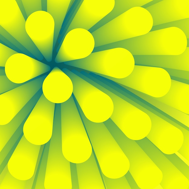 Fondo abstracto. elemento de fondo en perspectiva. papel pintado con tubo degradado liso. vellosidades de estructura verde en patrón de medicina. Vector Premium