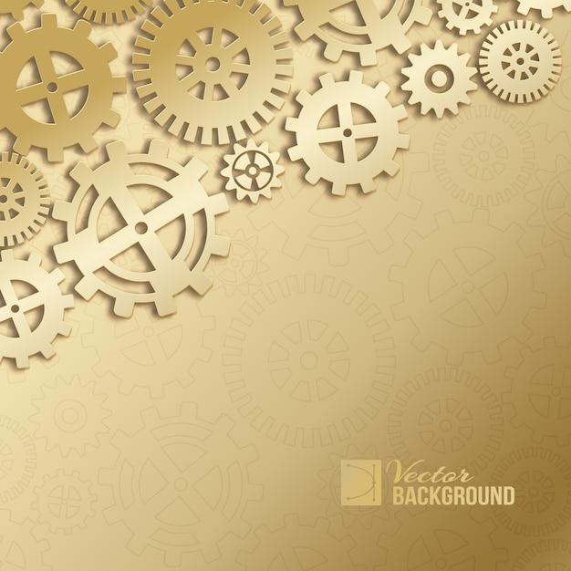 Fondo abstracto de engranajes mecánicos. vector gratuito