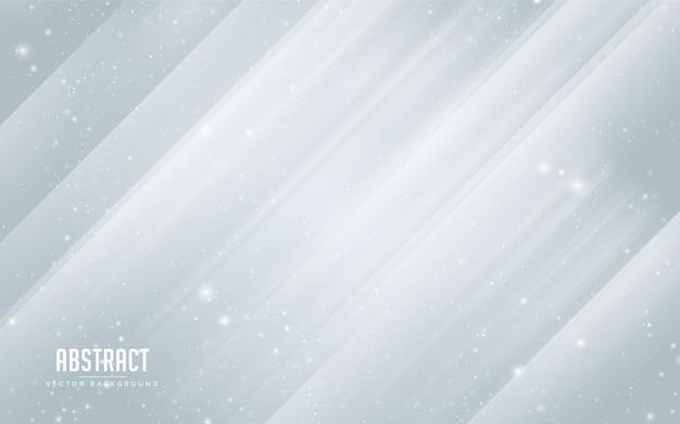 Fondo abstracto estrella y cristal con colores azul y blanco. minimalista moderno eps 10 Vector Premium