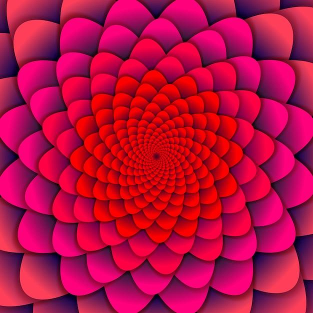 Fondo abstracto. flor rosa espiral. flor de loto abstracta. símbolo esotérico de la mandala. Vector Premium