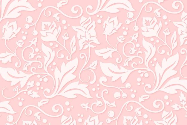 Fondo abstracto de flores ornamentales vector gratuito
