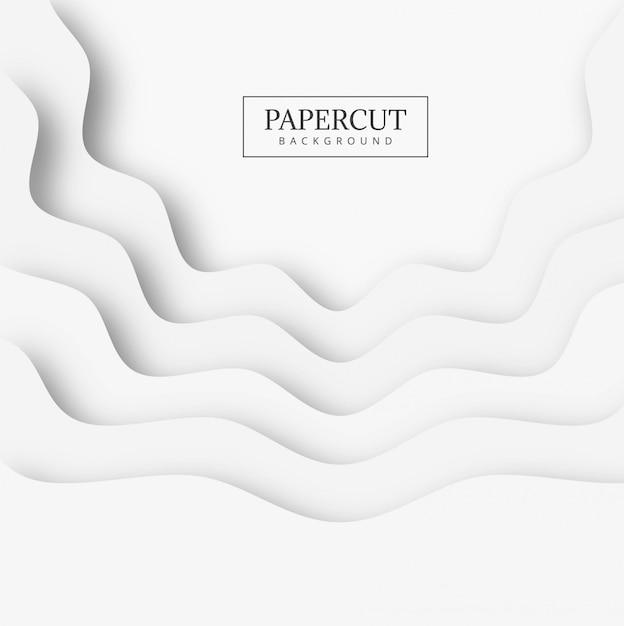 Fondo abstracto de la forma del papercut vector gratuito