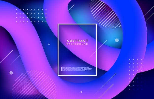 Fondo abstracto con formas líquidas de flujo de colores vector gratuito