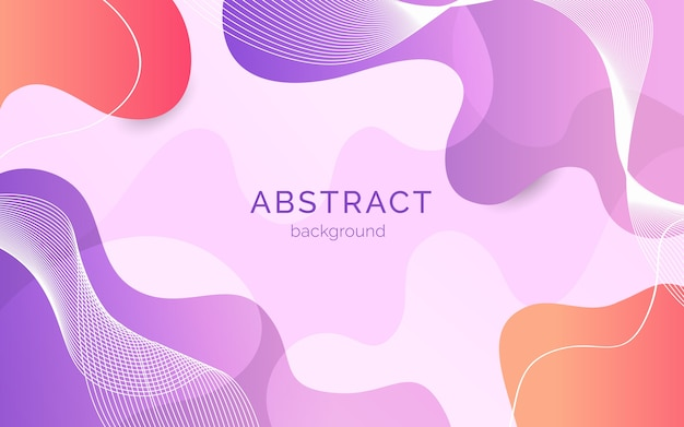 Fondo abstracto con formas orgánicas vector gratuito