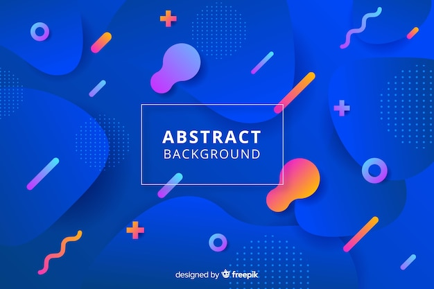 Fondo abstracto con formas redondeadas vector gratuito
