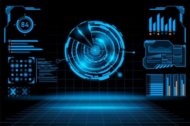 Fondo abstracto futurista Vector Premium
