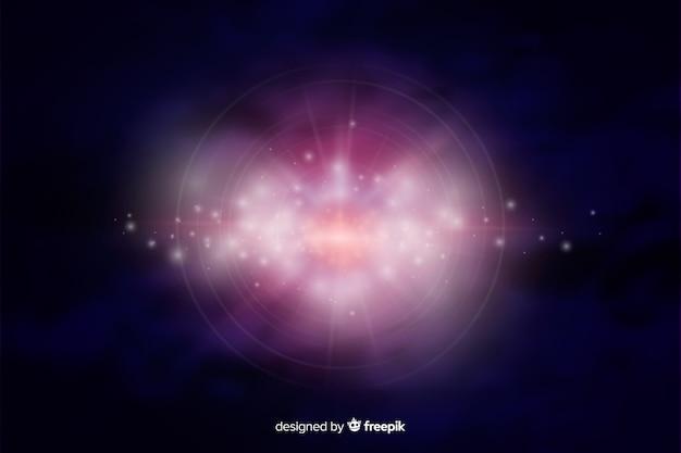 Fondo abstracto de galaxia brillante vector gratuito