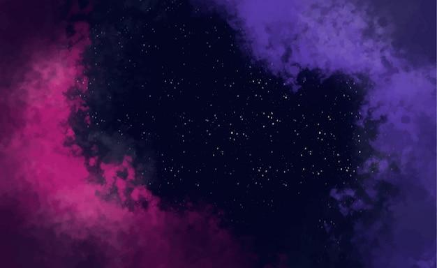 Fondo abstracto galaxia vector gratuito