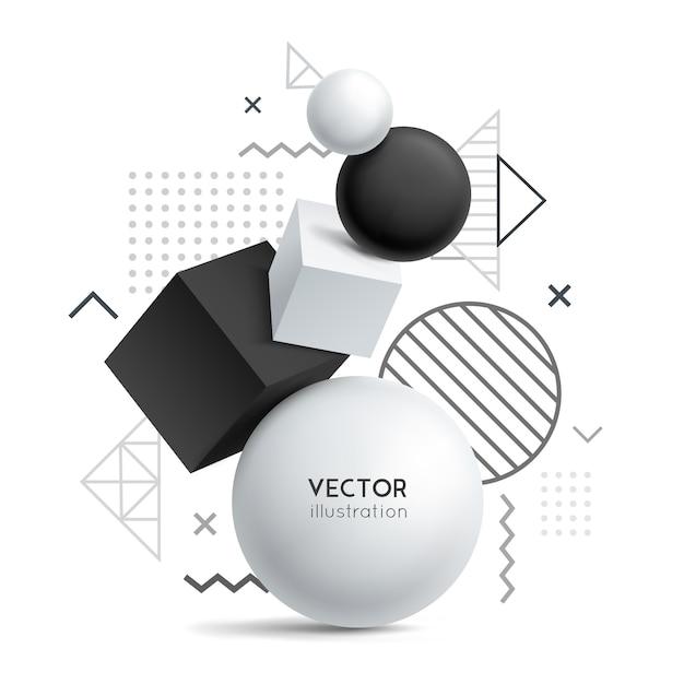 Fondo abstracto de geometría sólida vector gratuito