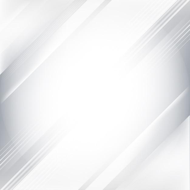 Fondo abstracto gris y blanco degradado vector gratuito