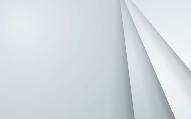Fondo abstracto gris con capas superpuestas blancas. Vector Premium