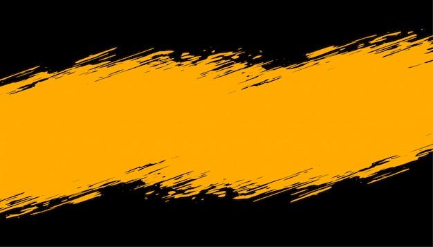 Fondo abstracto grunge negro y amarillo vector gratuito
