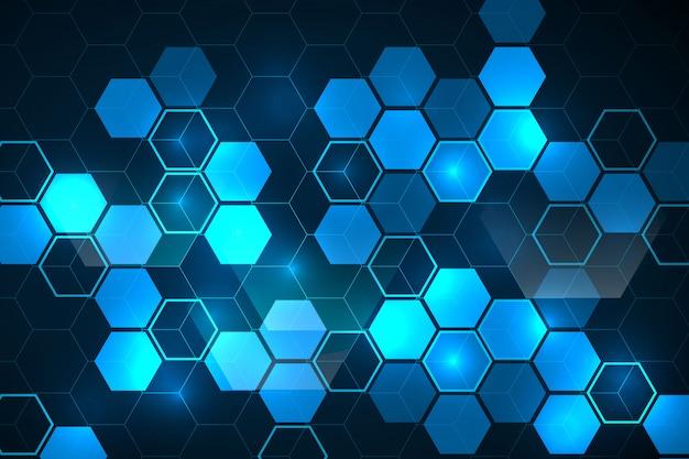 Fondo abstracto hexagonal vector gratuito