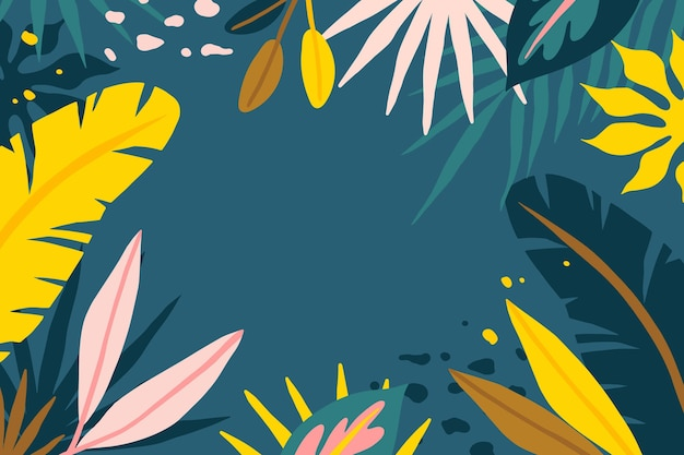 Fondo abstracto de hojas tropicales vector gratuito