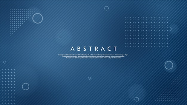 Fondo abstracto con ilustración de finas líneas azules. Vector Premium