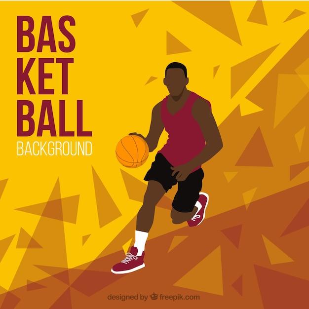 Fondo abstracto de jugador de baloncesto vector gratuito