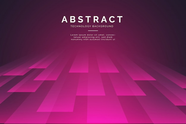 Fondo abstracto con líneas 3d vector gratuito