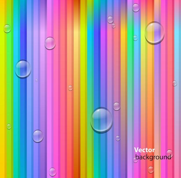 Fondo abstracto de líneas y gotas de colores sin fisuras vector gratuito