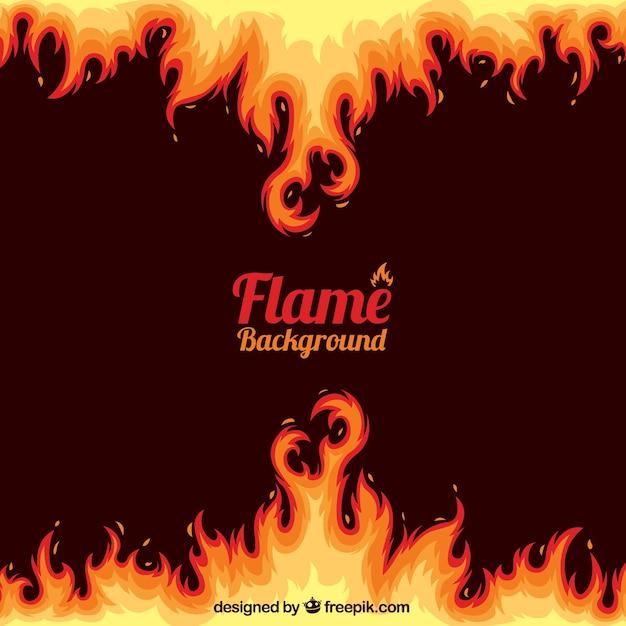 Fondo abstracto de llamas vector gratuito