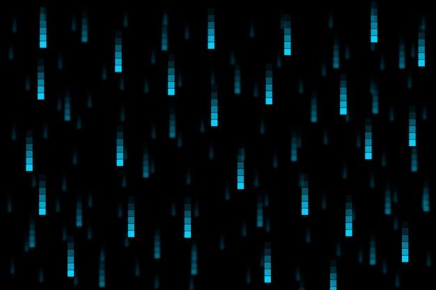 Fondo abstracto de lluvia de píxeles vector gratuito