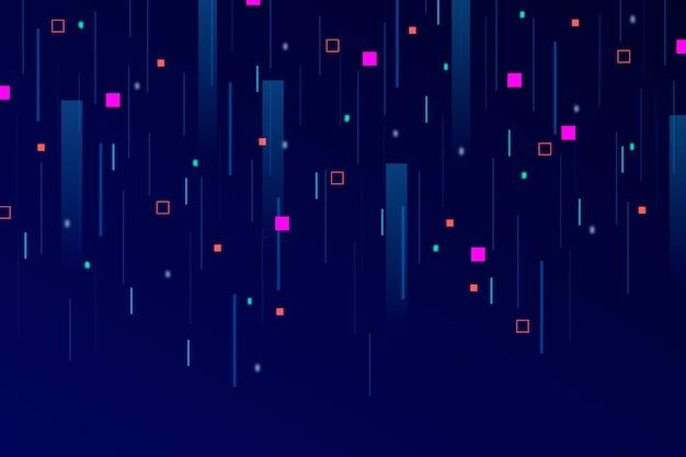 Fondo abstracto lluvia de píxeles vector gratuito