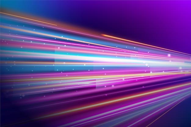 Fondo abstracto con luces de neón vector gratuito