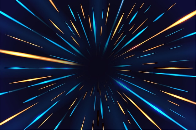 Fondo abstracto de luces de neón vector gratuito