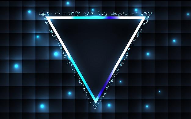 Fondo abstracto de lujo marco azul oscuro Vector Premium