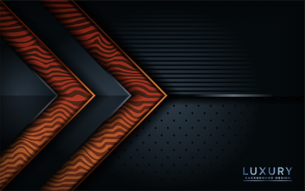 Fondo abstracto de madera negro Vector Premium