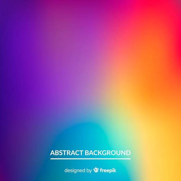 Fondo abstracto de malla borrosa degradada Vector Premium